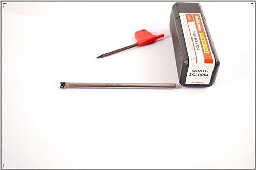 wholesale 1pcs C05H-SCLCR04 CNC popular lathe solid carbide turning tool holder boring bar , Tungsten steel shock tool holder , Tungsten steel shock alloy Arbor , holder diameter 5 mm, wholesale holder total length 100 mm sale