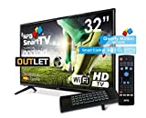NPG S420L32H-Q-O LED 32' HD Smart TV con Mando con Teclado QWERTY y Motion, Android 7.1, Quad Core, WiFi | Outlet