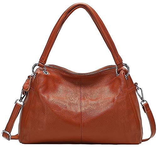 CHERISH KISS Borsa a tracolla per le donne in vera pelle borse e borse da donna Hobo Borse a tracolla, marrone (Marrone scuro), Taglia unica