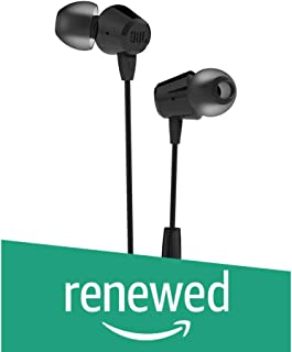 (Renewed) JBL C50HI in-Ear Headphones with Mic (Black)