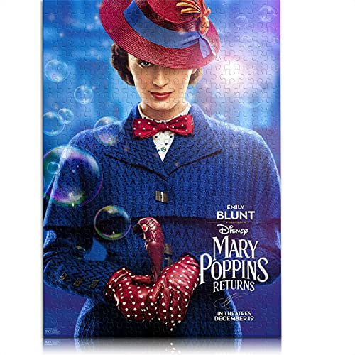 1000 pezzi di puzzle classico per adulti Il Ritorno di Mary Poppins Puzzle per bambini 38x26 cm Gioco di puzzle educativo Collezione d'arte fai-da-te Mary Poppins