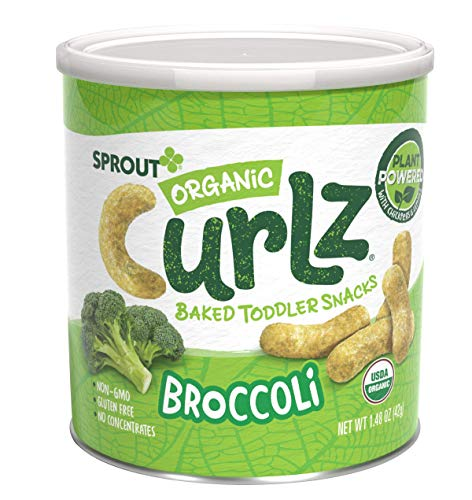 Sprout Organic Baby Food Toddler Snacks Curlz, Broccoli, 1.48 Ounce Canister (Pack of 1)