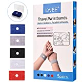 Motion Sickness Wristbands, LYJEE Anti-Nausea Wristbands, Car Sea Sickness Relief Wristbands, Morning Sickness Acupressure Relief Bands for Pregnant Women Adult