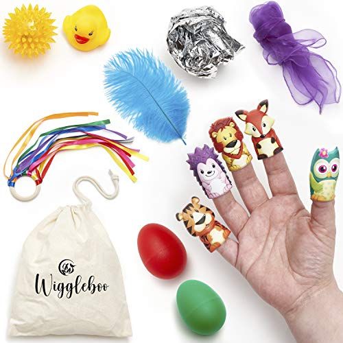 Baby Sensory Toys - Best for Newborn Infant to 1 Year Old - Ideal Gift for 6 to 12 Months Boy or Girl - Brain Developmental Activity Kit for Busy Learning Babies - Balls, Crinkle Blanket and More