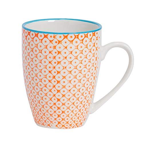 Taza de desayuno - Estampado naranja/azul - 360ml