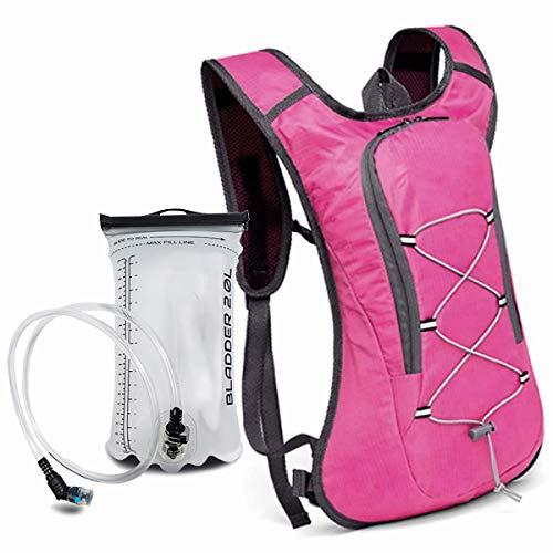 MB52 Mochila deportiva de hidratación de 2 L, ligera, también para senderismo, escalada, correr, camping (8 L de volumen + bolsa de hidratación de 2 L)