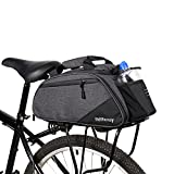 Rdffensy Bike Rack Bag Bike Trunk Bag 21L Bicycle Rack Trunk Pannier Seat Commuter Cargo Bag with Bottle Holder Multi Pockets Taillight Loop for Outdoor Traveling
