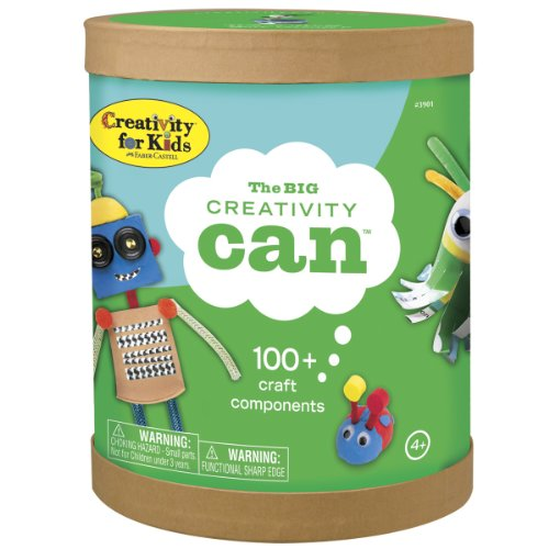 Creativity for Kids The Big Creativity Can - Open Ended Fun, 100+ Craft Components