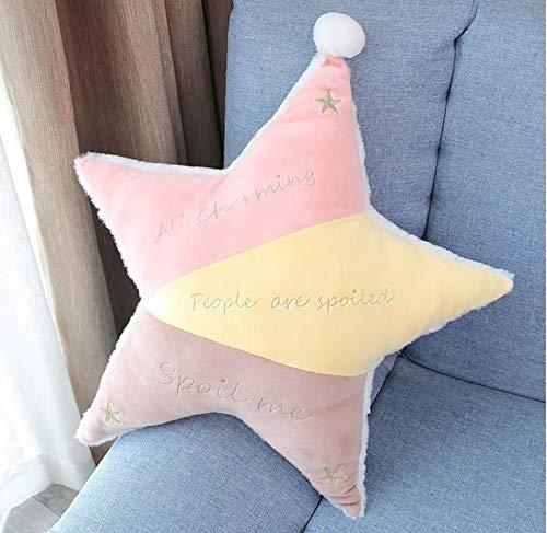 WYBL Lovely Sleep Pillow Nouveau-né Oreillers de Protection de Soins pour bébé sailles à Cinq Pointes Star Pillow Rose Jaune 25cm