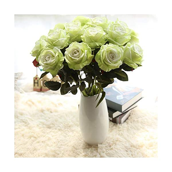 Artificial Fake Flower, Elevin(TM) Artificial Fake Roses Flannel Flower Bridal Bouquet Wedding Party Home Decor