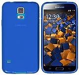 mumbi Funda Compatible con Samsung Galaxy S5/S5 Neo, Azul Claro