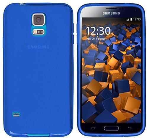 mumbi Hülle kompatibel mit Samsung Galaxy S5 / S5 Neo Handy Case Handyhülle, blau
