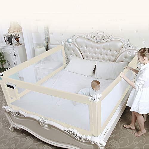 Riel de cama para niños pequeños, riel de cama plegable extra ancho de 68 cm 150 cm 180 cm 200 cm, protector de cama de elevación vertical, 8 niveles ajustables, rejilla de cama de bebé(180cm)