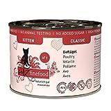 catz finefood Kitten N 3 Geflügel Katzenfutter nass - Feinkost Kitten Nassfutter für junge Katzen ohne Getreide und Zucker mit hohem Fleischanteil