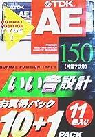 TDK カセットテープ 11本 AE 150分 いい音設計 AE-150X11F