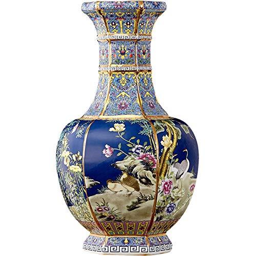 Fashion158 Jingdezhen Keramik-Bodenvase Qianlong Jahrmarkierung Emaille-Vase chinesische Klassische Wohnzimmer-Dekoration Kunsthandwerk