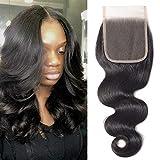 Lace Closure Human Hair YYONG Brazilian Body Wave Free Part 4X4 Closure 100% Unprocessed Human Virgin Hair Body Weave...