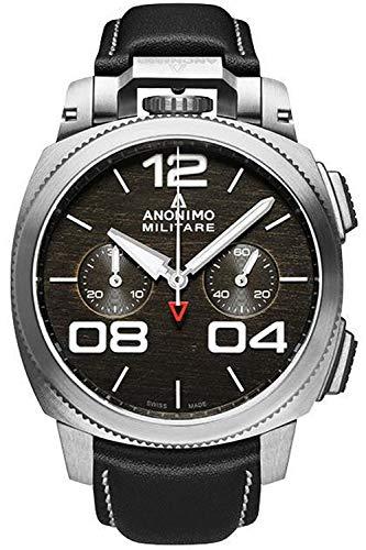 Anonimo militare orologio Uomo Analogico Automatico con cinturino in Pelle di vitello AM112001001A01