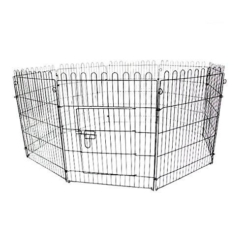 WEIMALL ペットサークル 折りたたみ 8面サークル 高さ76cm ペットケージ ペットフェンス ケージ ゲージ サークル トレーニングサークル 犬用ケージ 小型犬用 中型犬用 屋内用 屋外用 室内用 犬小屋 犬 ペット ペット用品