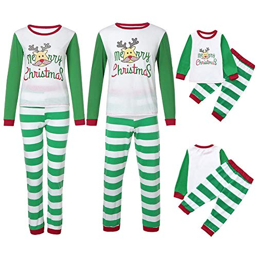 Pijamas Dos Piezas Familiares de Navidad Ropa para Dormir Oto/ño Invierno Sudadera Ch/ándal Su/éter de Navidad Conjuntos Navide/ños de Algod/ón para Mujeres Hombres Ni/ño Beb/é