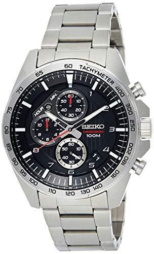 SEIKO Herren Chronograph Quarz Uhr mit Edelstahl Armband SSB319P1