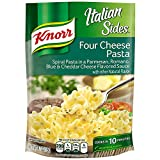 Knorr Italian Sides Four Cheese Pasta is a creamy, cheesy pasta side dish that enhances meals with amazing flavor Italian Sides Four Cheese combines fusilli pasta with a Parmesan, Romano, Blue, and Cheddar cheese-flavored sauce Knorr Italian Sides co...