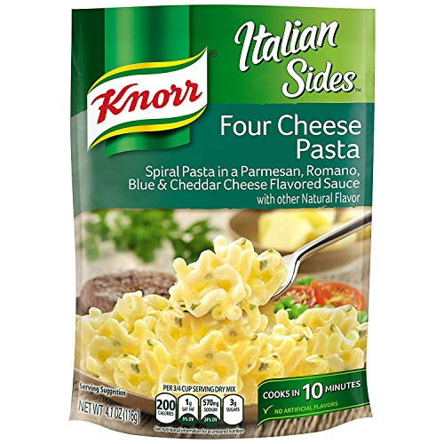 Knorr Italian Sides For a Delicious Easy Pasta Meal Four Cheese Pasta No Artificial Flavors, No Colors from Artificial Sources, No Added MSG 4.1 oz, Pack of 8