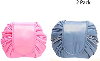 2 Pack Portable Travel Cosmetic Bags Toiletry Drawstring Bag