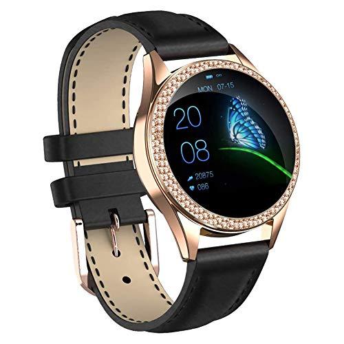 CUIFULI Relojes inteligentes para mujeres, IP68 impermeable reloj de fitness, rastreador de actividad, monitor de frecuencia cardíaca, podómetros
