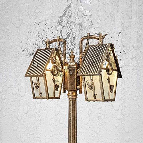 Victorian Victorian Outdoor Tabletop Iluminación Contemporánea Colección Exterior Post Lamp Yard Roillway Pasarela Impermeable Pilar Luz Estilo Antiguo (Color : Bronze-2.3m)