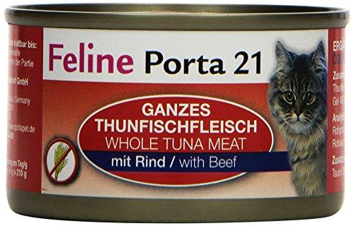 Feline Porta Katzenfutter Feline Porta 21 Thunfisch plus Rind 90 g, 24er Pack (24 x 90 g)