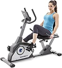 Marcy Magnetic Recumbent Exercise Bike with 8 Resistance Levels NS-40502R,Grey