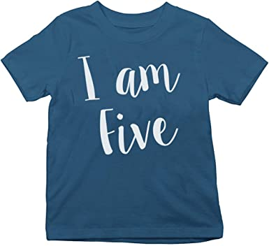 Kids Childrens Birthday I Am T-Shirt Boys Girls Party Gift Tee Top Ages 1-13 CB1