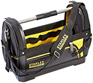 Heavy duty 600 denier fabric with leather reinforcements for long lasting durability Rigid and waterproof plastic base Heavy duty steel handle bar Shoulder strap - allows easier carrying of heavy loads Velcro straps - ideal for securing a 600mm level