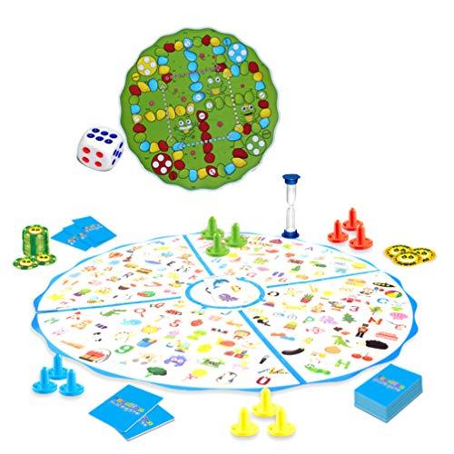 STOBOK 2 in 1 Puzzel Schaakspel Speelgoed Interactief Educatief Speelbord Board Training Speelgoed Voor Kinderen Kinderen Studenten