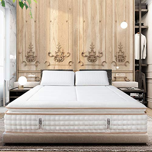(36% OFF Deal) Luxury Hybrid Mattress – Cooling Memory Foam Pillowtop & Individually Encased Spring Coils $283.99