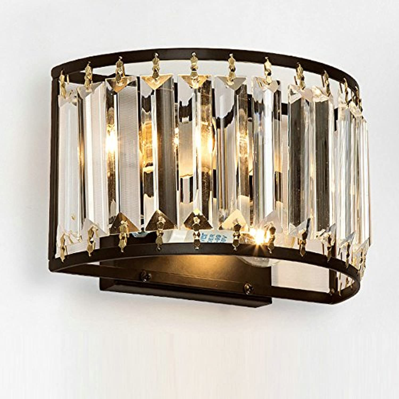 Welampa Moderne Kristall Wandleuchten Up Down Wandleuchte Vintage Loft Style Wandleuchten Leuchten für Home Bedside Schlafzimmer Treppen Beleuchtung Franzsisch Crystal Leuchter