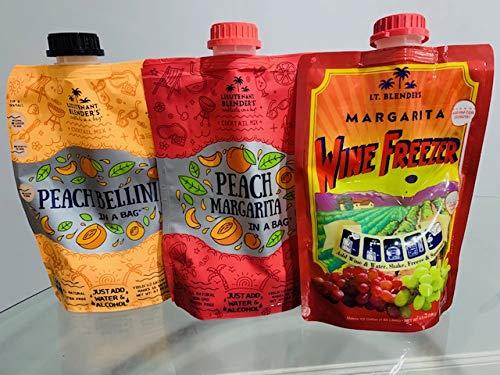 Peach Bellini, Peach Marg. and Margarita 3 Flavors