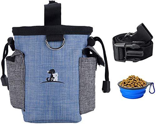 Bolsa de Entrenamiento para Perros Bolsas para premios para Perros Soporte para premios de Entrenamiento para Mascotas con cinturón para Perros pequeños a Grandes