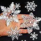 ankunlunbai Juego de 57 pegatinas creativas para pared, diseño de copo de nieve, Navidad, Papá...