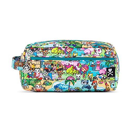 JuJuBe x Tokidoki Toiletry Bag, Be Dapper | Travel Cosmetics + Train Case for Men and Women, Beauty Organizer, Diaper Storage Bag | Fantasy Paradise