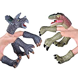 2. FUN LITTLE TOYS Dinosaur Head, Arms, and Feet Finger Puppets (10pcs)