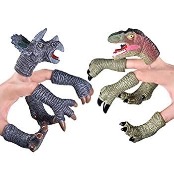 FUN LITTLE TOYS Dinosaur Head, Arms, and Feet Finger Puppets (10pcs)