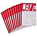 Hallmark Pack of Valentines Day Cards, Love (10 Valentine Cards with Envelopes)