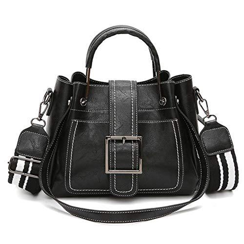 1Pcs Crossbody Tassen Voor Dames Schoudertas Rugzakken Dames Leren Klep Dames Messenger Bags Klein Dameszakje, Zwart, Medium