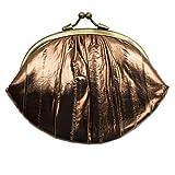 Becksöndergaard - Cartera de piel para mujer (piel de árabe, estilo retro, con muchos compartimentos para monedas, con cierre de clip), color dorado