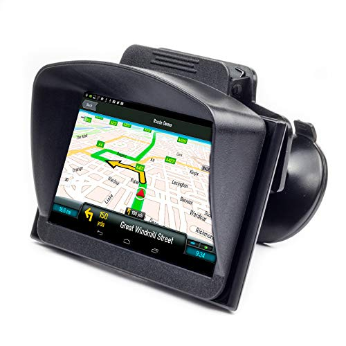 Digicharge® 5'' 5 Pulgadas Visera Parasol Sombrilla para Tomtom Go Basic Essential Garmin Drive Drivesmart Driveassist Nuvi Navegadores GPS para Coche Anti Reflejante