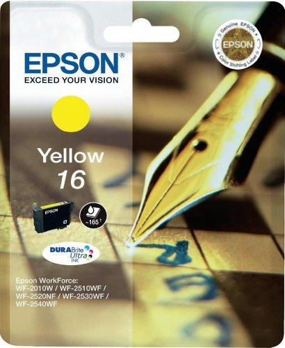 Epson C13T16244012 - Cartucho de tóner adecuado para WF2010, color amarillo, paquete estándar válido para los modelos WorkForce WF-2010W, WF-2760DWF y otros