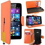 ebestStar - Coque Compatible avec Microsoft Nokia Lumia 535 Etui PU Cuir Housse Portefeuille Porte-Cartes Support Stand + Mini...