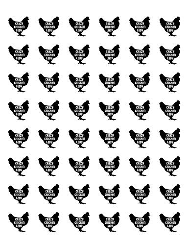 Special Pack 48 Crazy Chicken Lady Envelope Seals Labels Stickers 1.2' Round #CUAS